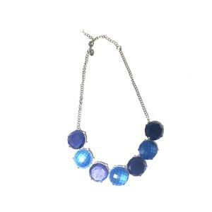 Jewelry - Blue Silver Costume Jewelry Necklace Chain